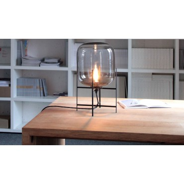 lampe de table ODA SMALL verre Gris