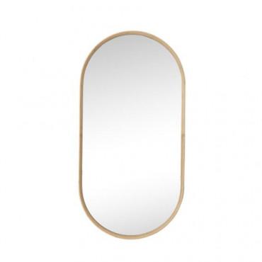 miroir bamboo oval