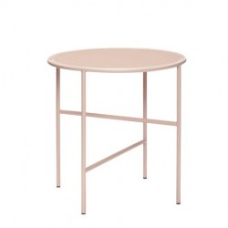 table basse ronde rose