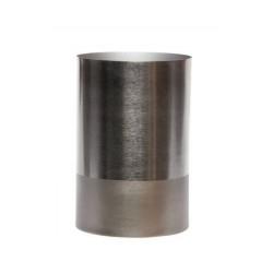 vase metal gris