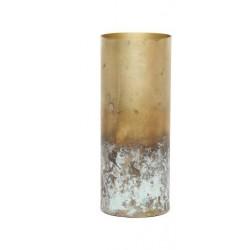 vase metal doré marbré